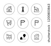 state icon set. collection of 9 ...