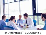 group of happy young  business... | Shutterstock . vector #120080458
