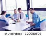 group of happy young  business... | Shutterstock . vector #120080503