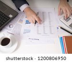bisinessman working his job at... | Shutterstock . vector #1200806950