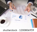 bisinessman working his job at... | Shutterstock . vector #1200806959
