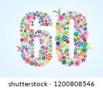 vector colorful floral 60... | Shutterstock .eps vector #1200808546