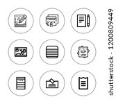 quarter icon set. collection of ... | Shutterstock .eps vector #1200809449
