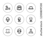occupation icon set. collection ... | Shutterstock .eps vector #1200809530