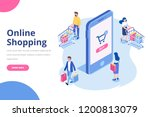 online shopping isometric... | Shutterstock .eps vector #1200813079