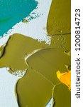 colorful oil paint brush... | Shutterstock . vector #1200814723