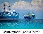 logistics import export... | Shutterstock . vector #1200815890