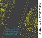 blueprint  sketch. vector... | Shutterstock .eps vector #1200820306