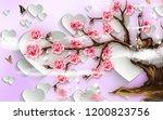 3d illustration  soft pink... | Shutterstock . vector #1200823756