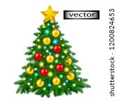 vector illustration christmas... | Shutterstock .eps vector #1200824653