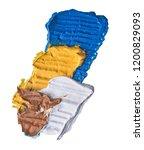 colored oil paint brush strokes ... | Shutterstock . vector #1200829093