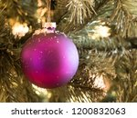 Purple Balls With Snowflakes O...