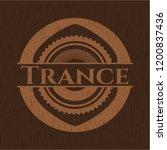 trance wooden emblem   Shutterstock .eps vector #1200837436