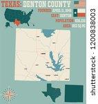 detailed map of denton county... | Shutterstock .eps vector #1200838003