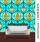 seamless retro pattern in the... | Shutterstock .eps vector #1200838390