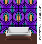 seamless retro pattern in the... | Shutterstock .eps vector #1200838393