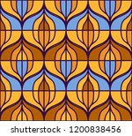 seamless retro pattern in the... | Shutterstock .eps vector #1200838456