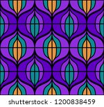 seamless retro pattern in the... | Shutterstock .eps vector #1200838459