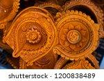 terracotta diya made by hand... | Shutterstock . vector #1200838489