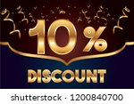 10  off discount promotion sale ... | Shutterstock .eps vector #1200840700