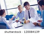 group of happy young  business... | Shutterstock . vector #120084139