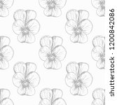 floral seamless pattern with... | Shutterstock .eps vector #1200842086