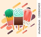 ice cream popsicles collection... | Shutterstock .eps vector #1200843403