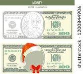 100 bucks on white background.... | Shutterstock .eps vector #1200844906
