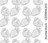 strawberry seamless pattern...   Shutterstock .eps vector #1200846343