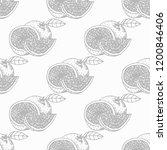orange seamless fruit pattern | Shutterstock .eps vector #1200846406