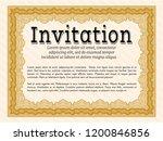 orange formal invitation.... | Shutterstock .eps vector #1200846856
