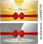golden and silver christmas... | Shutterstock .eps vector #120085750