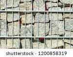 textures and patterns  gabion... | Shutterstock . vector #1200858319