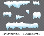 icicles on a transparent... | Shutterstock .eps vector #1200863953