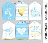 vector blue sticker set it s a...   Shutterstock .eps vector #1200863983