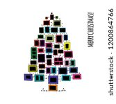 christmas tree made from photo...   Shutterstock .eps vector #1200864766
