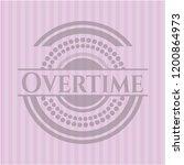overtime pink emblem. retro | Shutterstock .eps vector #1200864973