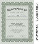 green diploma or certificate... | Shutterstock .eps vector #1200865060