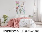 peach blanket and white with... | Shutterstock . vector #1200869200