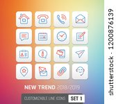 icon set 2018 2019 new trend... | Shutterstock .eps vector #1200876139