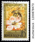 ussr circus 1971. postage... | Shutterstock . vector #1200878473