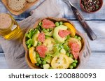 salad of fresh vegetables with... | Shutterstock . vector #1200880093