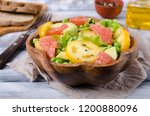 salad of fresh vegetables with... | Shutterstock . vector #1200880096