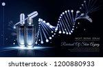 night repair serum ads with... | Shutterstock .eps vector #1200880933