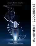 night repair serum ads with... | Shutterstock .eps vector #1200880966