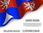 waving flag of liberec region... | Shutterstock .eps vector #1200881860