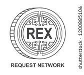 request network coin ... | Shutterstock .eps vector #1200885106