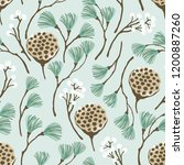 christmas floral pattern with... | Shutterstock .eps vector #1200887260