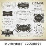 calligraphic design elements ... | Shutterstock .eps vector #120088999