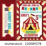 kid birthday invitation card... | Shutterstock .eps vector #120089278
